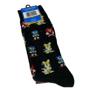Sonic The Hedgehog Men's Crew Socks 2 Pair Shoe Si